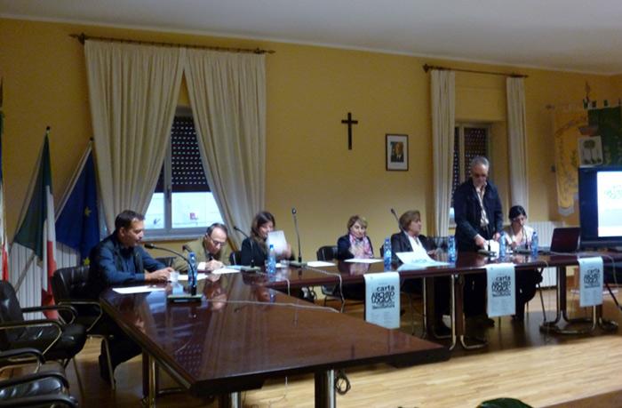 I relatori: Rubettino, Spadea, Vivacqua, Cardamone, De Sensi, Musolino, Gaglianese