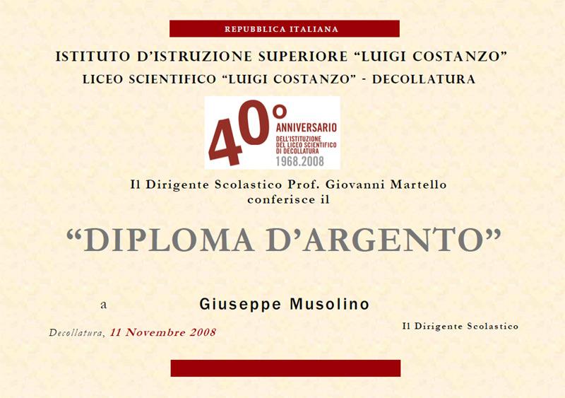 Diploma d'Argento del Liceo