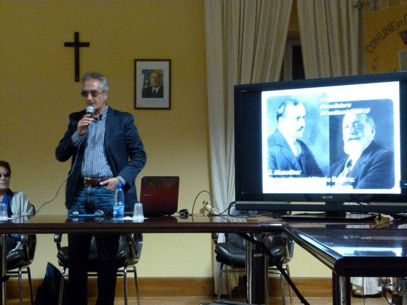Giuseppe Musolino durante l'intervento