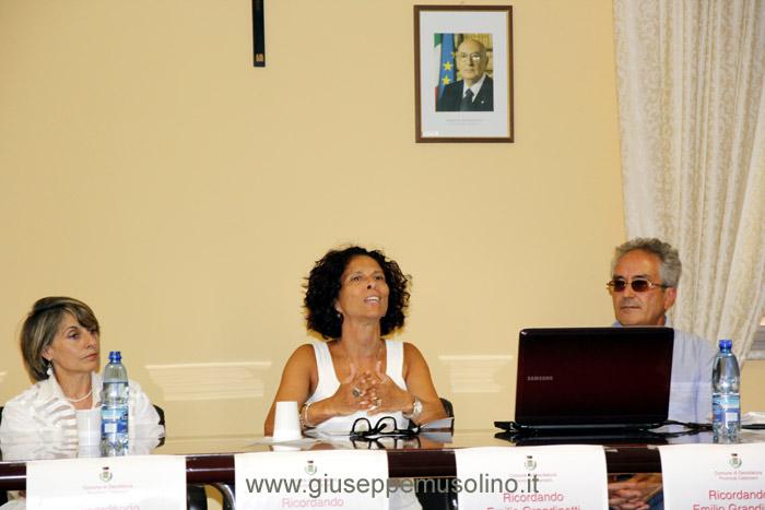 La prof.ssa Katia Massara durante il suo intervento