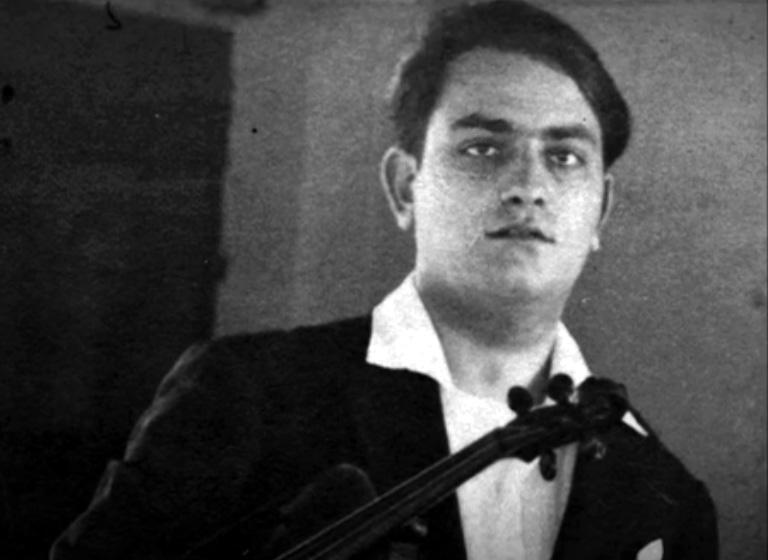 Pietro Gigliotti, padre di Dalida, col suo violino