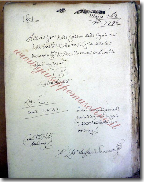 Fascicolo della causa di divisione - Archivio di Stato di Napoli