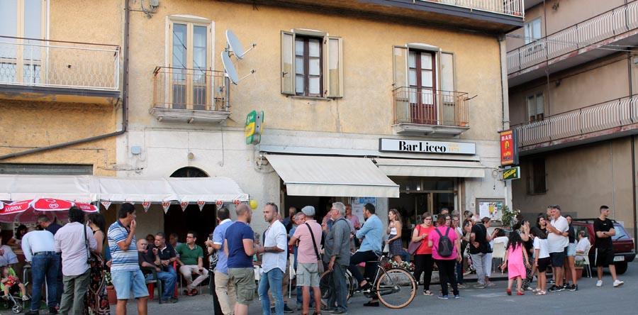 Bar Liceo durante la festa