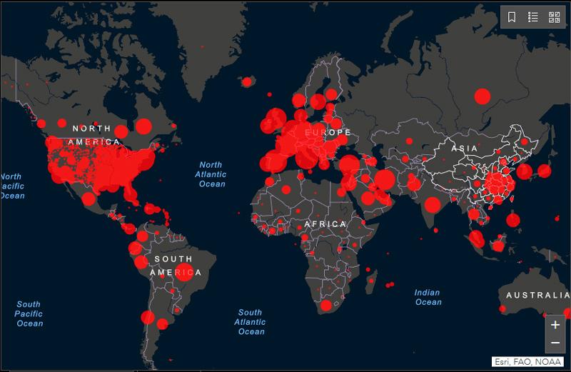 In diretta i casi COVID-10 nel mondo