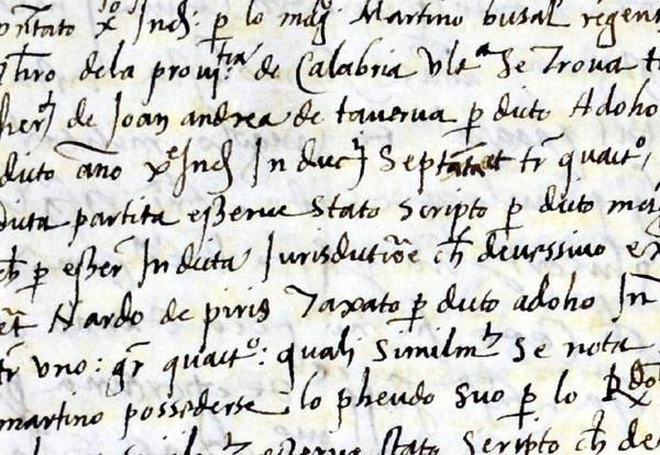 Manoscritto del XVI secolo