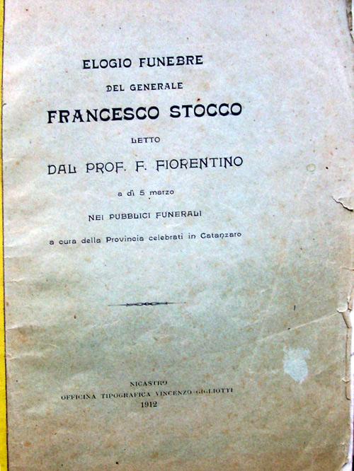 Elogio funebre Francesco Stocco