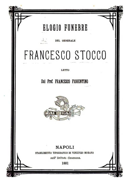 Elogio funebre del Generale Stocco