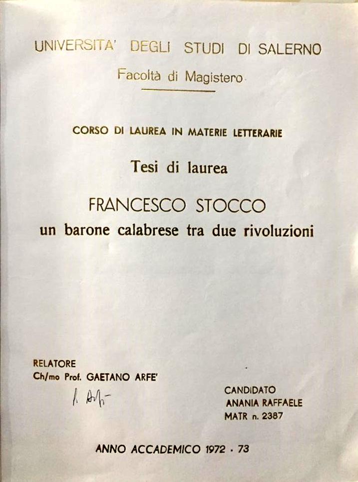 Raffaele Anania - Stocco
