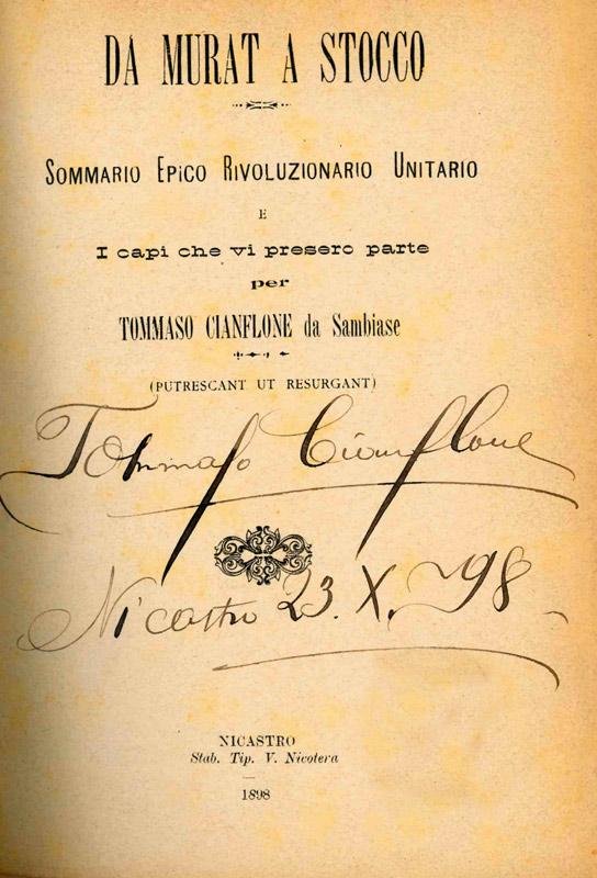 Da Murat a Stocco di Tommaso Cianflone